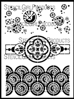 Collage Textures and Patterns, Circles Stencil by Gwen Lafleur