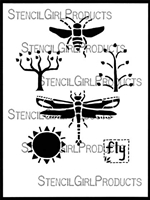 Fly Away Home Stencil by Roxanne Evans Stout