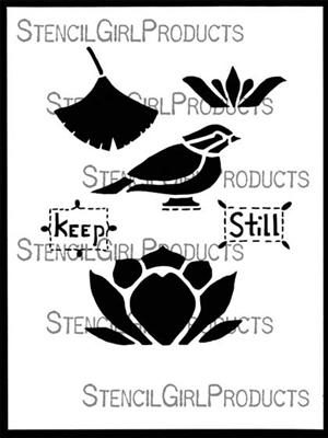 Keep Still Stencil by Roxanne Evans Stout