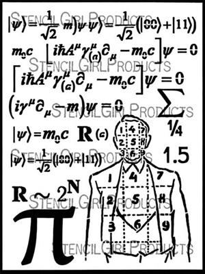 StencilGirl - Math Man