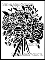 Wildflower Bouquet Stencil by Wendy Brightbill