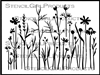Wildflowers and Grasses Stencil by Jennifer Evans