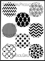 Circles Mini Printmaking Stencil Set 1 by Ann Butler