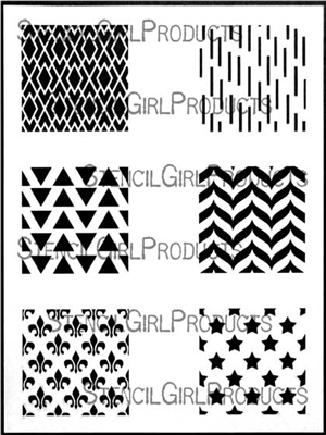 Squares Mini Printmaking Stencil Set 1 by Ann Butler