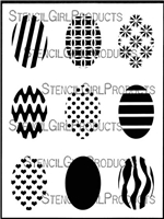 Ovals Mini Printmaking Stencil Set #1 by Ann Butler