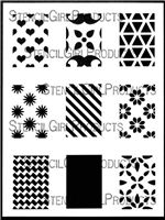 Rectangles Mini Printmaking Stencil Set #1 by Ann Butler