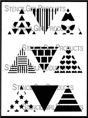 Triangles Mini Printmaking Stencil Set #1 by Ann Butler
