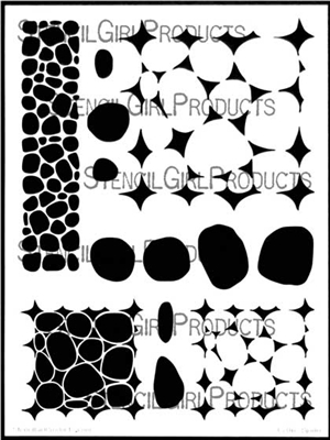 Stone and Pebble Tilings Stencil by Valerie Sjodin