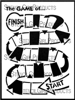 Winding Game Board Stencil by June Pfaff Daley