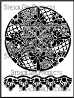 Lattice Medallion Stencil by Kristie Taylor