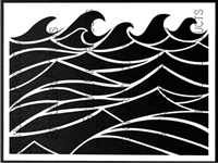 Making Waves Stencil by Mary C. Nasser