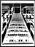 Gaol Stairs Stencil by Tina Walker
