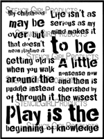 It's Time to Play Stencil by Carolyn Dube