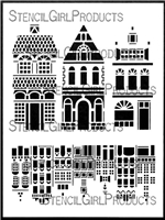 Fancy Houses Mixie Stencil Mask by Valerie Sjodin