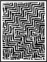 Rough Maze Pattern Stencil by Kristie Taylor