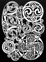 Celtic Spirals Mask by Valerie Sjodin