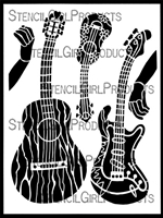 Instrumental Play Stencil by Carol Wiebe