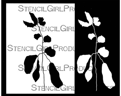 Botanical Stem Stencil with Mask by Rae Missigman