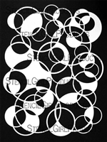 Circles Overlapping Filled Stencil by Carolyn Dube