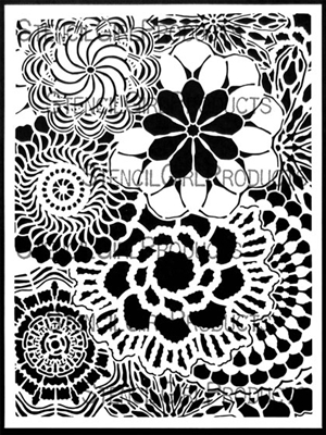 Floral Lace Stencil by Kristie Taylor