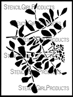 Bouquet Greeney Stencil by Wendy Brightbill