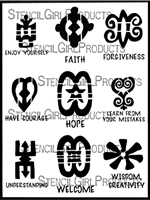 West African Symbols ATC Mixup Stencil 3 by TreWen