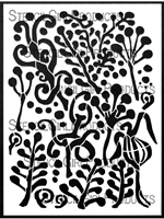 Filigree Sprigs Stencil by Helen Shafer Garcia
