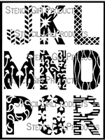 ATC Mixup Alphabet Pattern Stencil J through R by Ann Barnes