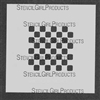 Mini Checkers Small Stencil by Mary Beth Shaw