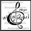 Allegro Clef Mini Stencil by Nancy Curry