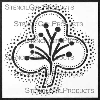 Ornamental Embroidery Stencil by Gwen Lafleur