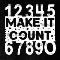 Make it Count Mini Stencil by Seth Apter