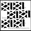 Tribal Pattern C Mini Stencil by Andrew Borloz