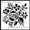 Mini Rose Bouquet Stencil by Jennifer Evans
