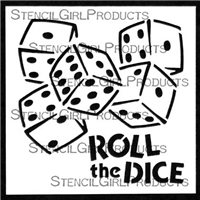 Roll the Dice Stencil by June Pfaff Daley