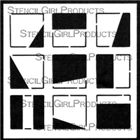 Mini Window Shades Stencil by Cynthia Silveri