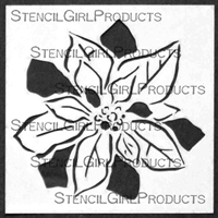 MIni Poinsettia Stencil by Jennifer Evans