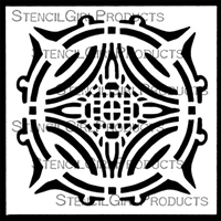 Center Grid Trivet Stencil by Jill McDowell
