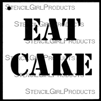 EAT CAKE Stencil by Mary Beth Shaw
