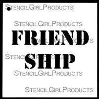 FRIEND SHIP Stencil by Mary Beth Shaw