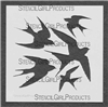 Swallows Stencil by Tracie Lyn Huskamp