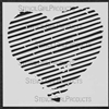 Heart Striped Stencil by Margaret Applin