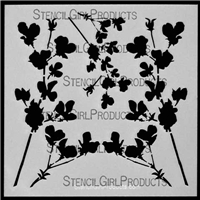 Flowers Version 1 Stencil by Cecilia Swatton