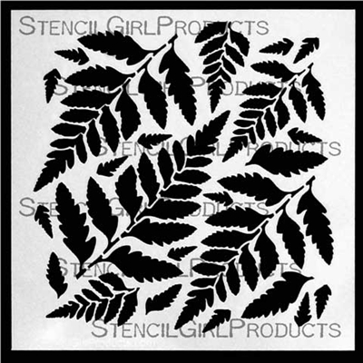 Ferns 6 Stencil by Cecilia Swatton