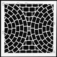 Intersecting Brick Circles Stencil
