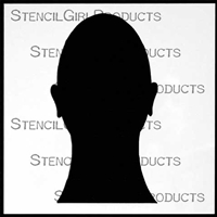 Face Silhouette Stencil by Pam Carriker