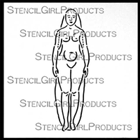 A-Nat-A-My Female Figure Stencil Pam Carriker
