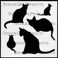 Cats Stencil by Cecilia Swatton