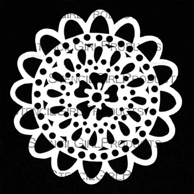 loopy doily stencil maria mcguire