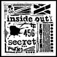 Inside Out Stencil by Seth Apter
